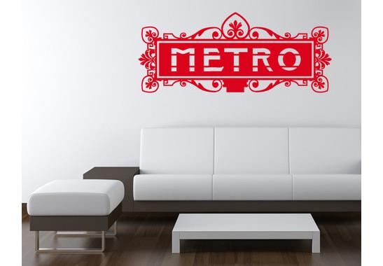 Wandtattoo Metro