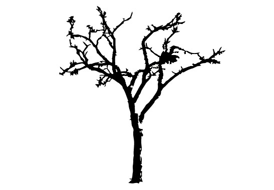 Glasdekor Winterbaum - Bild 6