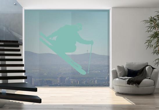Glasdekor Wunschtext Skispringer - Bild 5