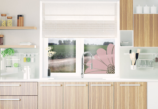 Glasdekor Gerbera Ecke - Bild 4