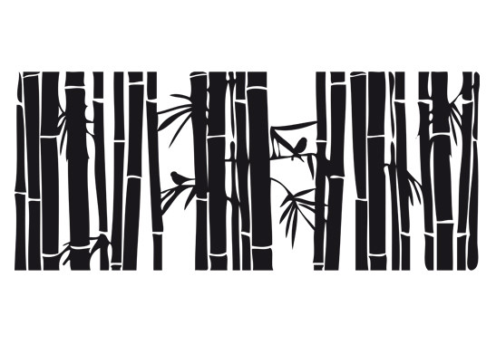 Glasdekor Bambusidyll - Bild 6