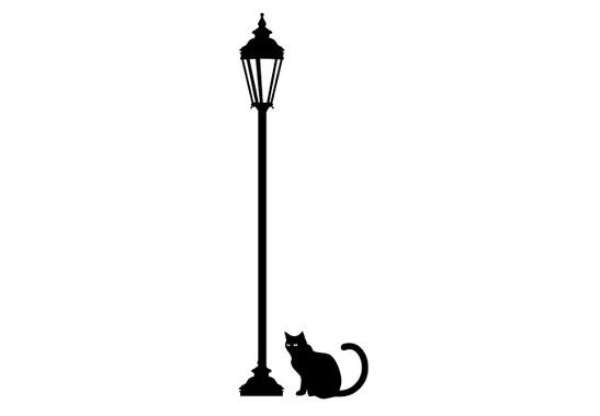 schwarz/weiss Ansicht - Wandtattoo Midnight cat