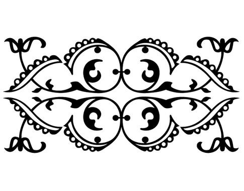 schwarz/weiss Ansicht - Wandtattoo Orientalisches Ornament