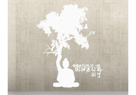 Wandtattoo Meditating Buddha