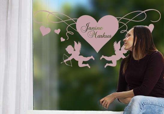 Glasdekor Cupido's Herz - Bild 4