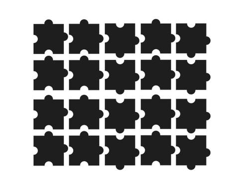 Fliesenaufkleber Zehn Puzzle Set - Bild 2