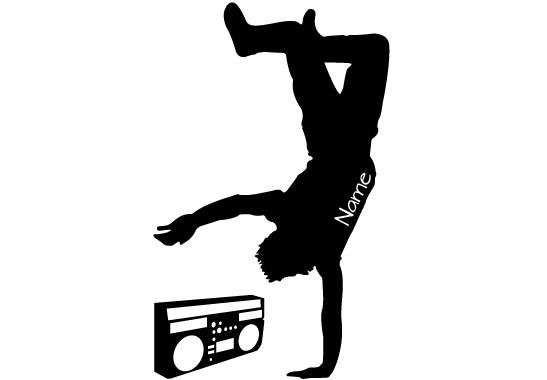 Glasdekor Wunschtext Breakdancer - Bild 6
