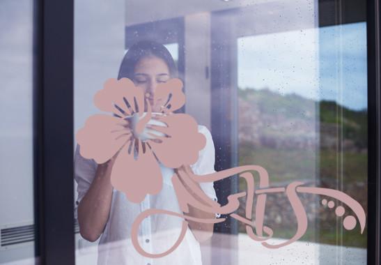 Glasdekor Floraler Hibiskus - Bild 4