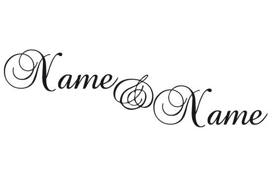 Glasdekor Wunschtext Verliebte Namen - Bild 6