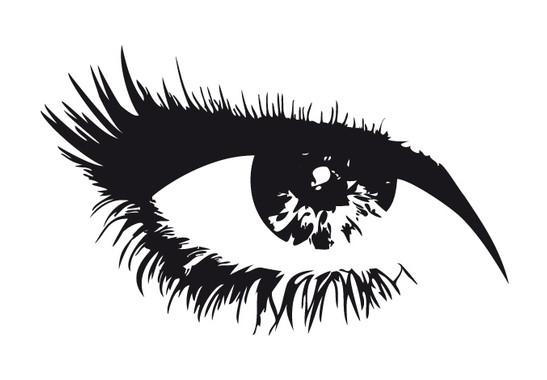 schwarz/weiss Ansicht - Wandtattoo Auge