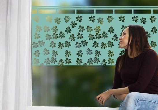 Glasdekor Blümchen Gardine - Bild 5