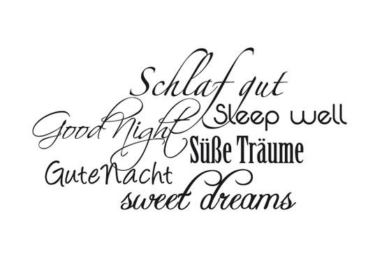 schwarz/weiss Ansicht - Wandtattoo Sweet dreams