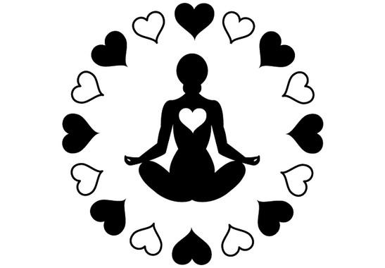 schwarz/weiss Ansicht - Wandtattoo Yoga