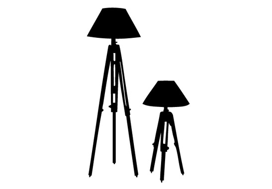 schwarz/weiss Ansicht - Wandtattoo Design classics Lampe