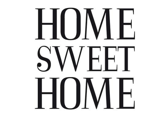 schwarz/weiss Ansicht - Wandtattoo Home sweet home 2