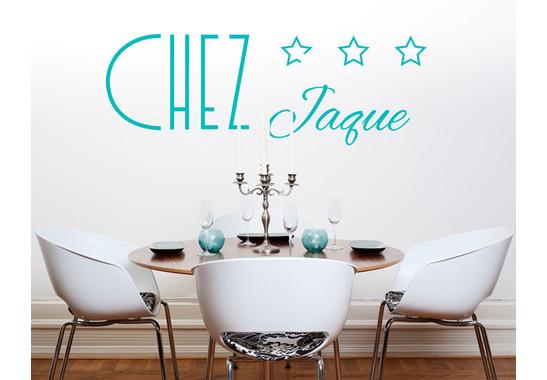 Wandtattoo Wunschtext Chez