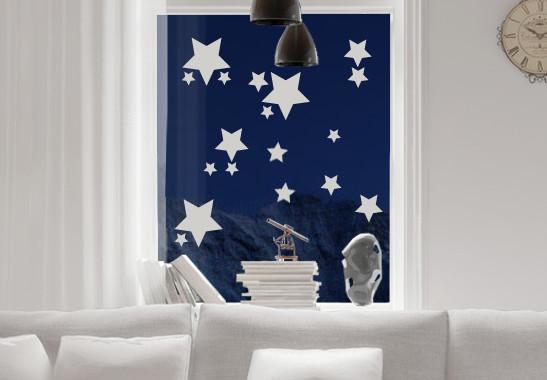 Glasdekor Funkelnde Sterne Set - Bild 2