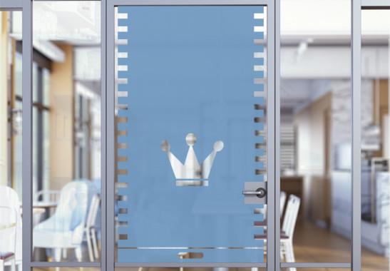 Glasdekor Krönchen Rollo