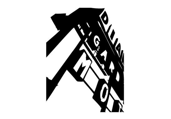 schwarz/weiss Ansicht - Wandtattoo Industrial Letters