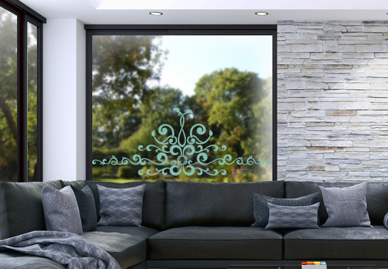 Glasdekor Barocke Verzierung - Bild 5
