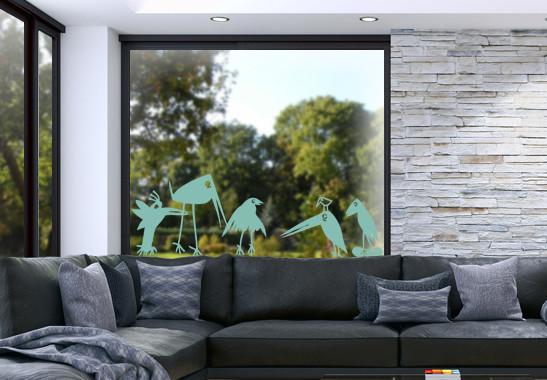 Glasdekor Rabenfamilie - Bild 5