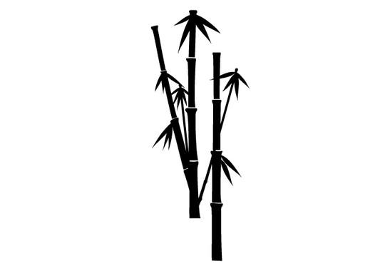 schwarz/weiss Ansicht - Wandtattoo Bamboo