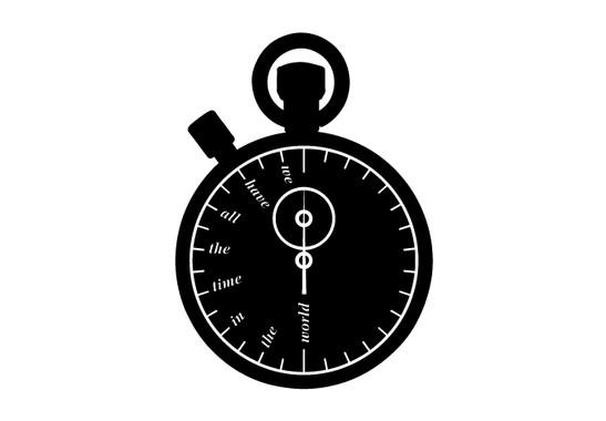 schwarz/weiss Ansicht - Wandtattoo Zeitstoppuhr