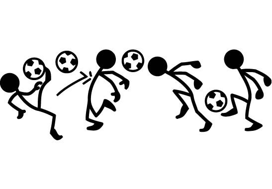 Glasdekor Fussball Männchen - Bild 6