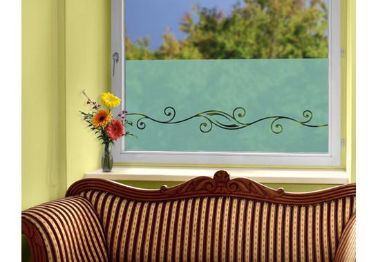 Folienfarbe in Wohnansicht: Refreshing Mint - Sichtschutz Floraler Schwung