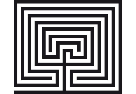 Glasdekor Steinlabyrinth - Bild 6