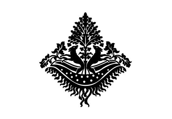 schwarz/weiss Ansicht - Wandtattoo Scherenschnittbild Hunde