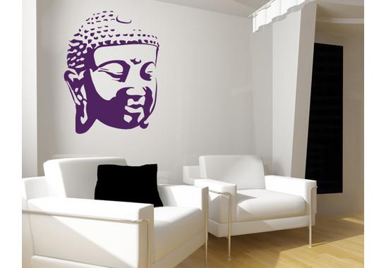 Wandtattoo Buddhagesicht Schatten I