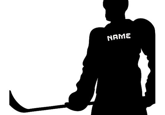 Ein Detail des Motives  - Wandtattoo Wunschtext Eishockey