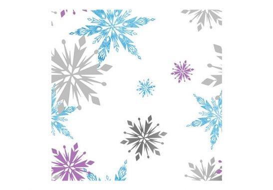 Mustertapete Papiertapete Die Eiskönigin - Schneeflocken - Bild 2