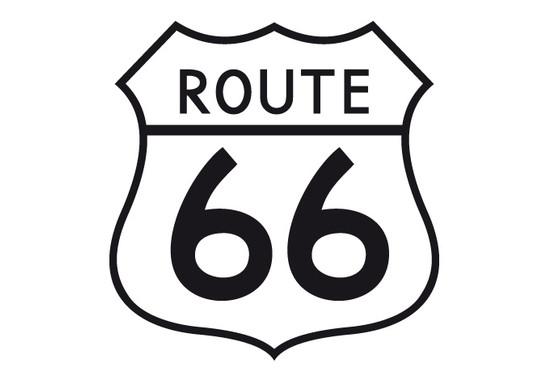 schwarz/weiss Ansicht - Wandtattoo Route 99
