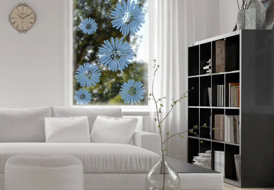 Glasdekor Gerberablüten - Bild 1