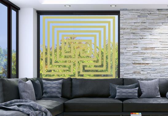 Glasdekor Steinlabyrinth - Bild 3