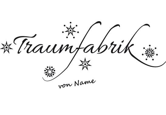 Glasdekor Wunschtext Unsere Traumfabrik - Bild 6