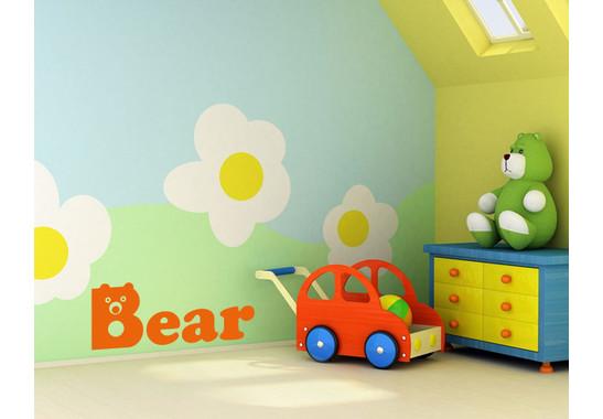 Wandtattoo Buchstaben Bear