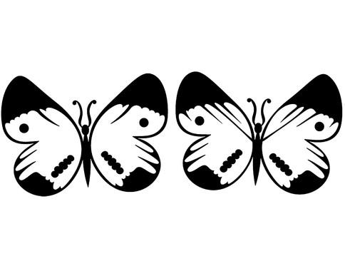 Wandtattoo Schmetterlingsduo - Bild 2