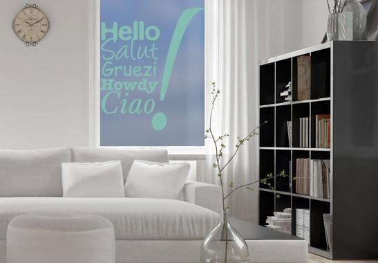Glasdekor Hello & Ciao - Bild 5