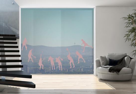 Glasdekor Tennis Aufschlag - Bild 4