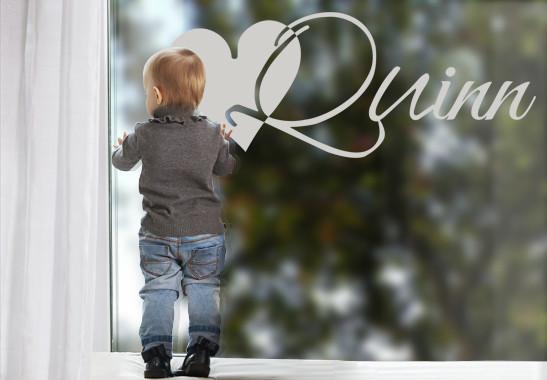 Glasdekor Wunschtext Initiale Q - Bild 2