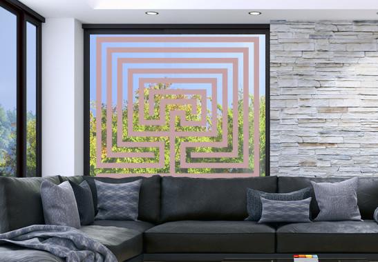 Glasdekor Steinlabyrinth - Bild 4