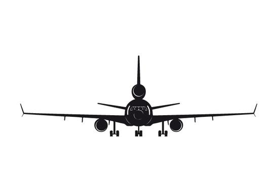 schwarz/weiss Ansicht - Wandtattoo Flugzeug