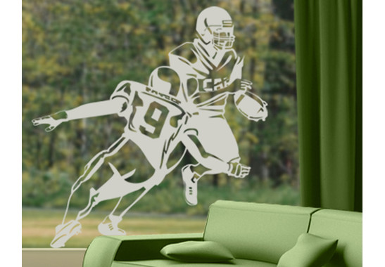 Folienfarbe in Wohnansicht: Frosted - Glasdekor American Football