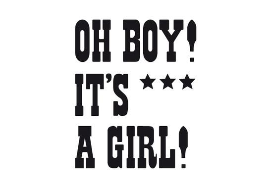 schwarz/weiss Ansicht - Wandtattoo Oh boy! It`s a girl!