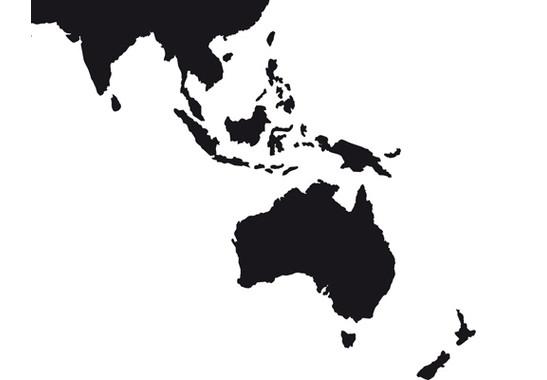 Detailgenaue Bildqualität - Glasdekor Weltkarte