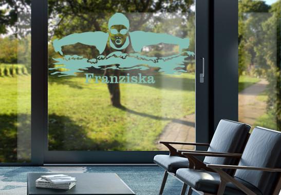 Glasdekor Wunschtext Schwimmerin - Bild 5