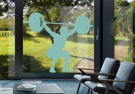 Glasdekor Wunschtext Schwergewichtler - Bild 5